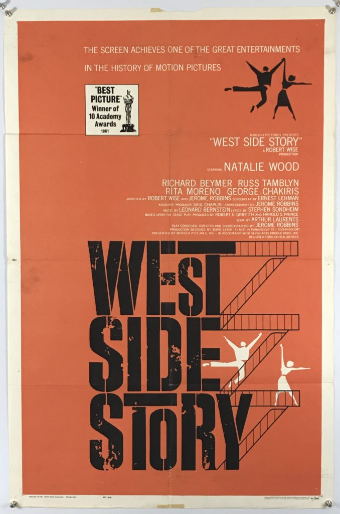 U.S. One Sheet West Side Story- R1962 Condition: Good Price: $325.00 USD Ships folded: $7.00 USD
